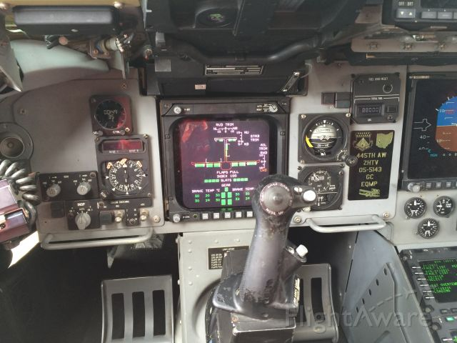 Boeing Globemaster III — - Cockpit of the C17 I did not get to fly it but I got to see all the controls <br />At wright Patterson