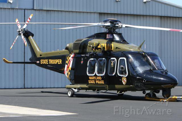 BELL-AGUSTA AB-139 (N387MD) - In front of Trooper 4 base hangar in Salisbury