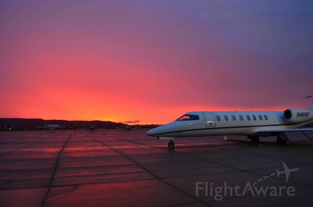Learjet 45 (N45NP) - Parked at sunrise.........