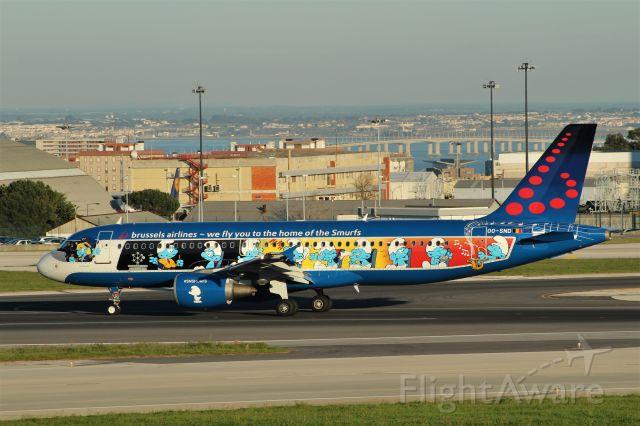 Airbus A320 (OO-SND) - Aeroporto Gen. Humberto Delgado - Lisbon     27-03-2018