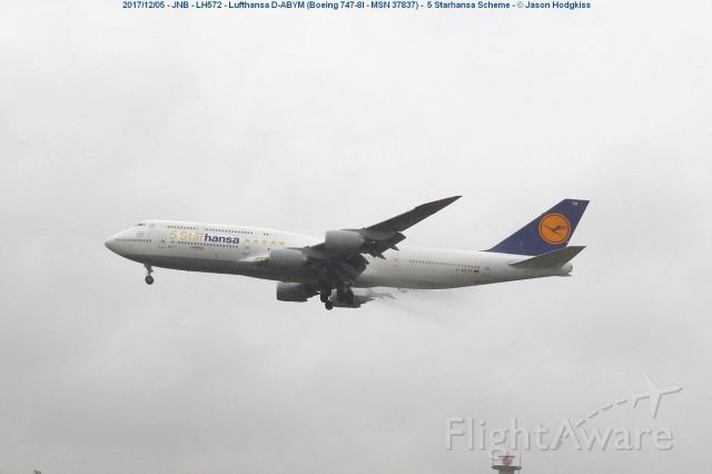 BOEING 747-8 (D-ABYM) - This special livery promotes Lufthansa