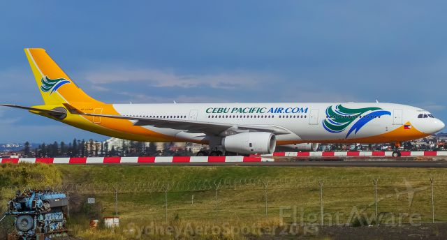 Airbus A330-200 (RP-C3343) - Cebu Pacific A330 Taxiing Back To The Terminal After Arriving 34R From Manila