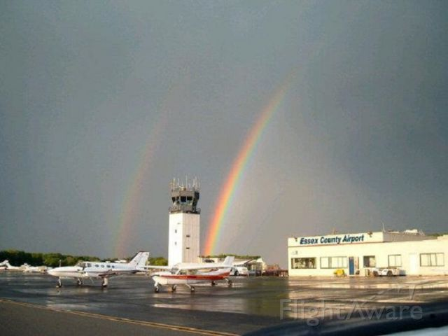 — — - An old friend of mine captures a double rainbow at KCDW.