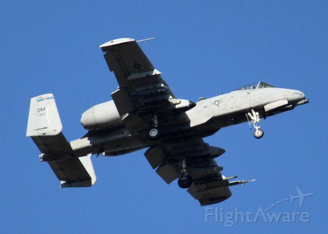 Fairchild-Republic Thunderbolt 2 (81-0960) - At Barksdale Air Force Base.