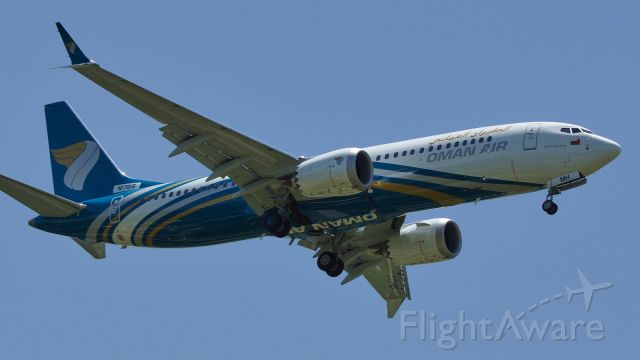 Boeing 737 MAX 8 (N1781B) - BOE944 on approach runway 34, will be A40-MH if delivered.