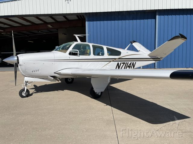 Beechcraft 35 Bonanza (N7114N) - NEW HOME