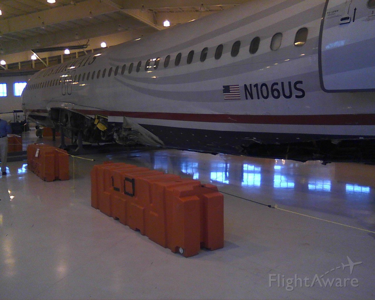 N106US — - High & Dry at the Charlotte Air Museum.