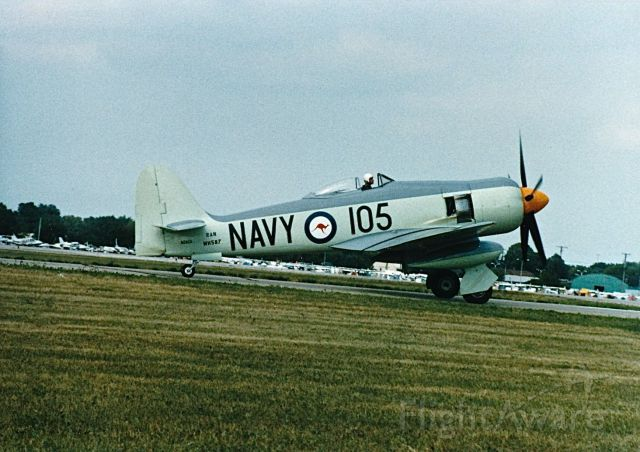 N260X — - British Sea Fury taxing at the EAA Fly In and Air Show