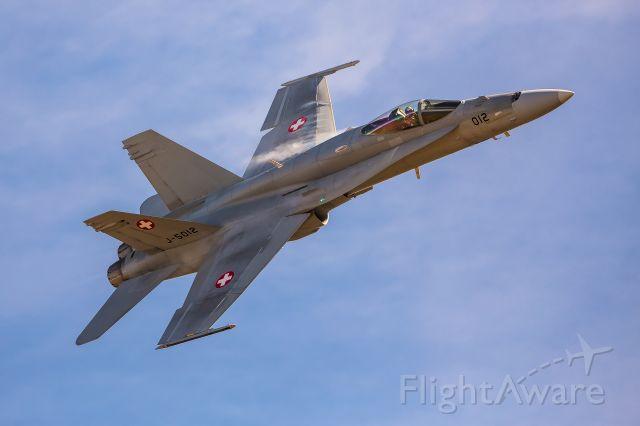 McDonnell Douglas FA-18 Hornet (J5012) - Swiss Air Force<br />Boeing F/A-18 C (J-5012) at Axalp shooting range