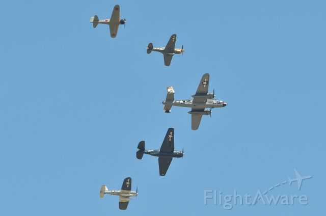 — — - A number of vintage WWII era war birds from the Texas Flying Legends Museum and the Lewis Air Legends Museum in Anguilla