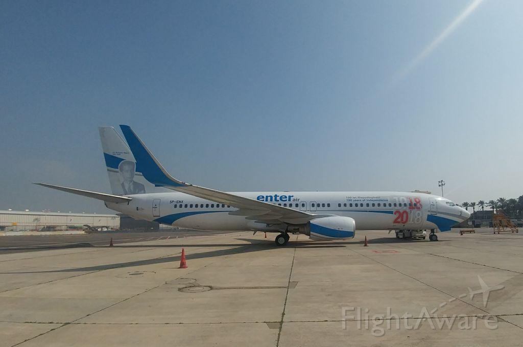 Boeing 737-700 (SP-ENX) - On tarmac @ LLBG/TLV