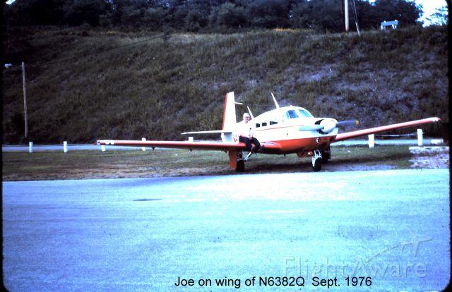 N6382Q — - At KCBE Joe Brown on wing of his mooney..