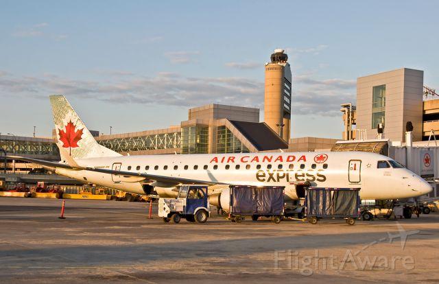 Embraer 170/175 (C-FEJP) - golden hour sunset on AC express