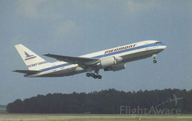 BOEING 767-200 (N603P) - scanned from postcard