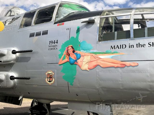North American TB-25 Mitchell — - Arizona Commemorative Air Force Museum, Mesa, AZ<br />Maid in the Shade