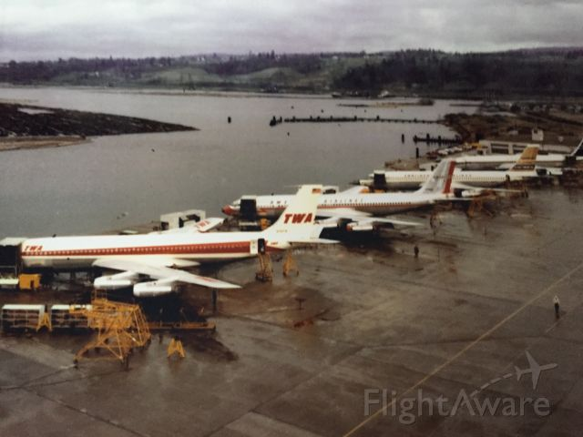 Boeing 707-100 (UNINOWN) - Boeing 707's flashback from 1957. Parked on the shores of Lake Washington in the city of Renton.