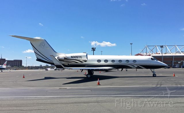 Gulfstream Aerospace Gulfstream IV (N305TC) - Nice Lion head on the tail of this immaculate G4