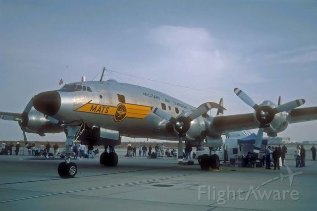 Lockheed EC-121 Constellation (N494TW) - Lockbeed VC-121A MATS Constellation N494TW at the Edwards Air Force Base open house on October 26, 2002. It was delivered to the Army Air Force as 48-0609.