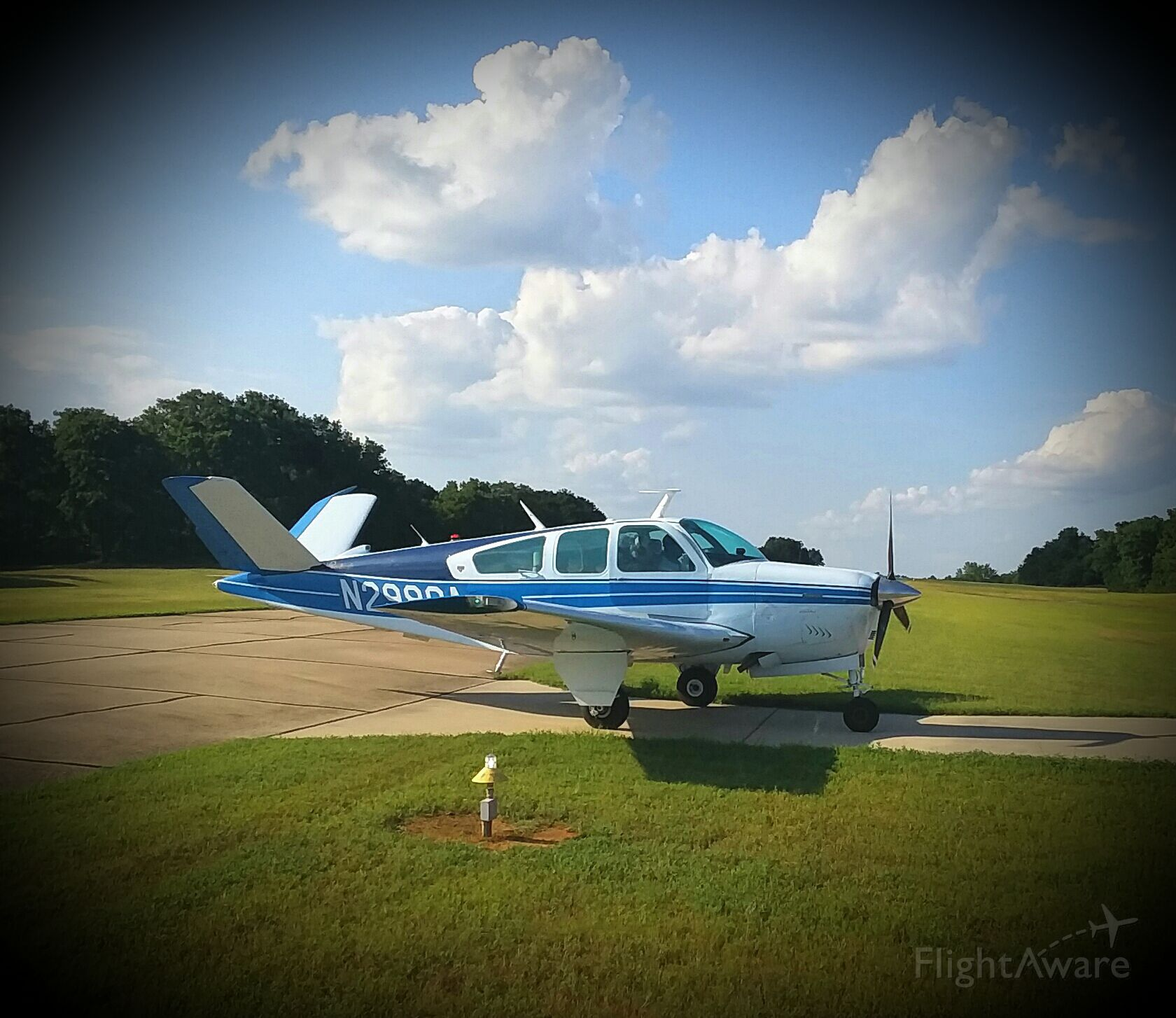 N2980A — - Perfect portrait of a V35B first flight after fresh engine/prop at Twin Lakes