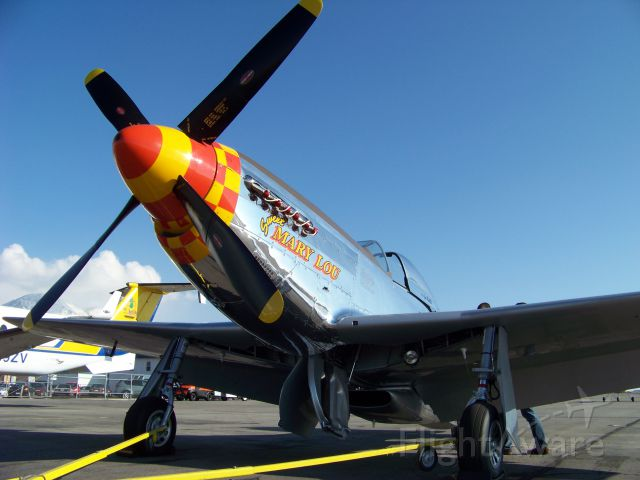 North American P-51 Mustang (N8677E) - Sweet Mary Lou pulled out of the hanger
