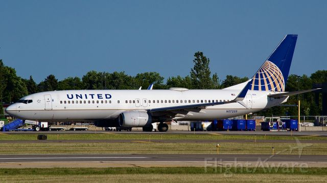 Boeing 737-800 (N17233) - United Airlines 737 takes home the Houston Astro's from Minnesota.