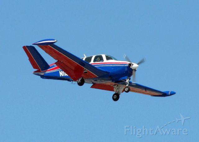 Beechcraft 35 Bonanza (N113TW) - Landing at Shreveports Downtown Airport. A beautiful V-Tail!