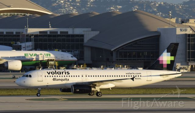Airbus A320 (N509VL) - Arrived at LAX on 25L