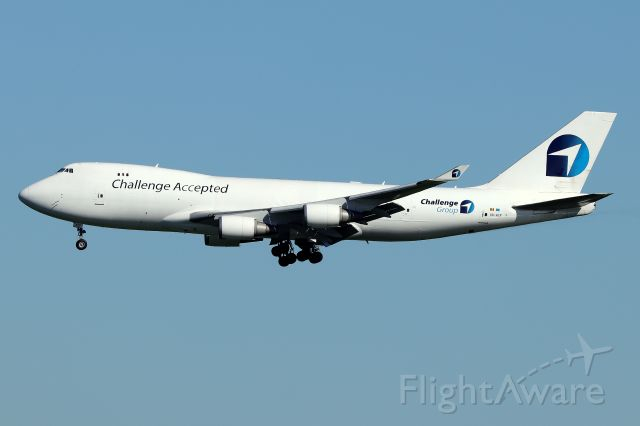 Boeing 747-400 (OO-ACF) - 'CAL 531' arriving from Liege, Belgium<br />(6/23)