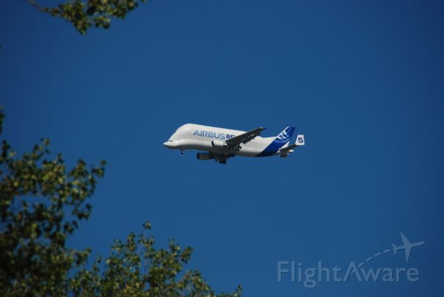 SATIC Super Transporter (F-GSTF) - The Airbus A300-600ST (Super Transporter) or Beluga, flying over Chester
