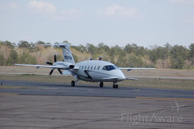 Piaggio P.180 Avanti (N501PM) - Taxiing after landing on 32 at Lone Star.