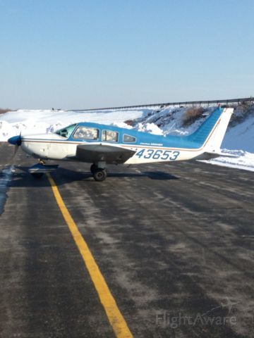 Piper Cherokee (N43653) - Sitting on the ramp at Chester County Airport.
