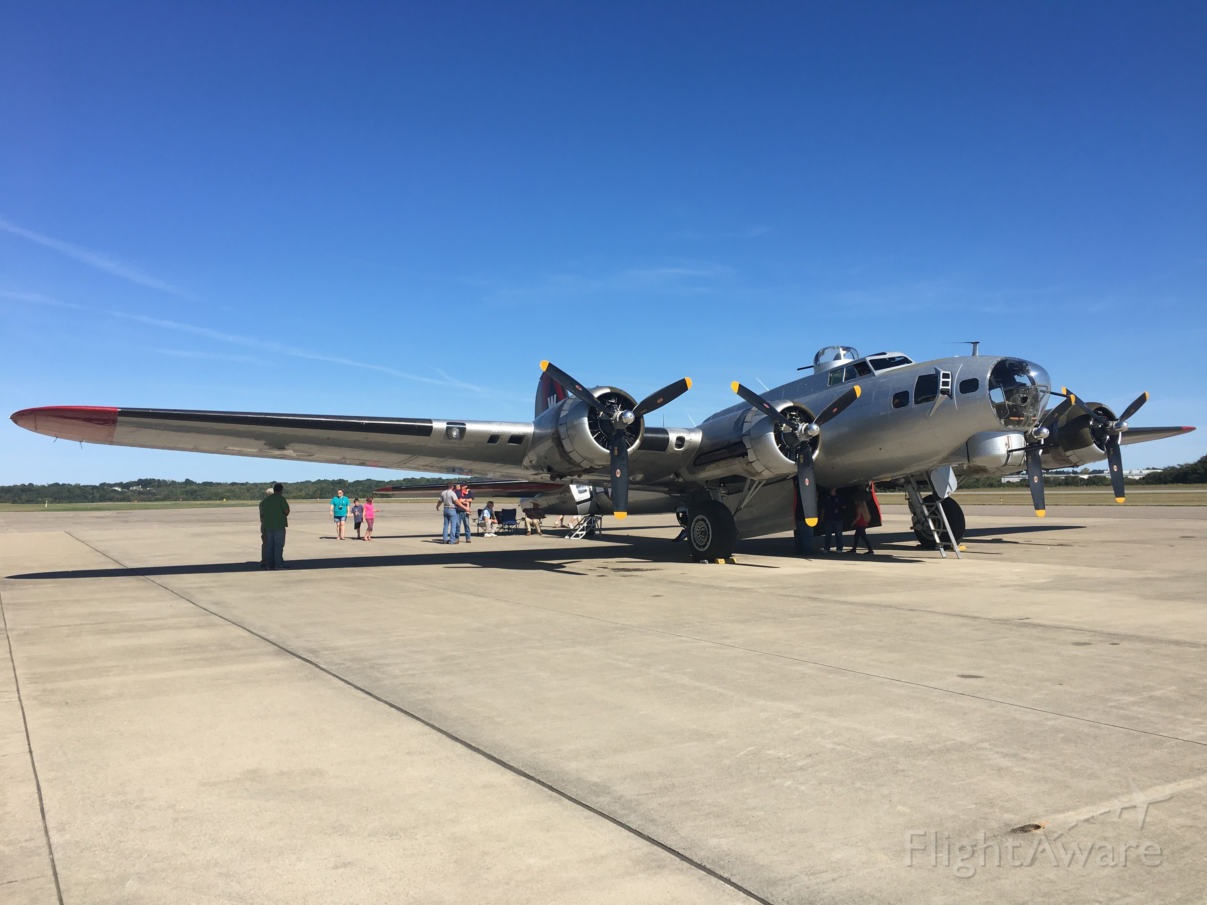— — - Aluminum Overcast at Annual Fly-In and Cruise-In at Zanesville Municipal, Sep.t 24, 2016.