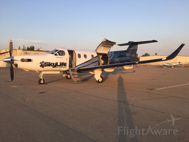 Pilatus PC-12 (N562NA) - PC-12 of Air Methods DBA SkyLife Air Ambulance