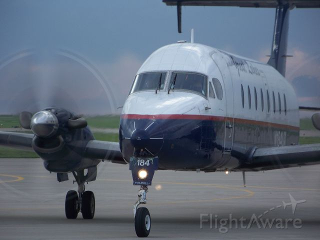 Beechcraft 1900 — - Great Lakes Airlines after landing at the Garden City Airport
