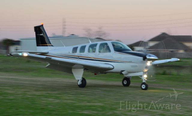 Beechcraft Bonanza (36) (N867LC) - N867LC on a landing rollout at Dry Creek airport