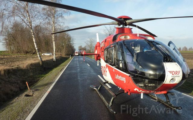 Eurocopter EC-635 (D-HDRO) - EC-H135 , rescue helicopter  - christopher 36 ( DRF )  rescue use on country road -