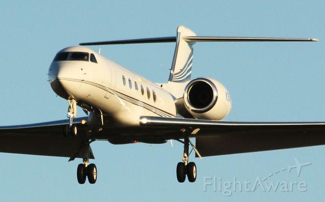 Gulfstream Aerospace Gulfstream V (N3546) - Nike Air!  Their 1999 Gulfstream G-V landing Hillsboro, Oregon Rwy 31. Nike Aircraft are based at KHIO. 10-1-12
