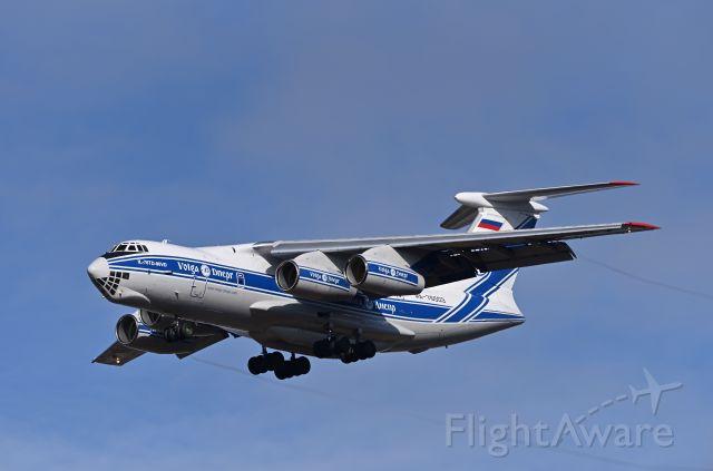Ilyushin Il-76 (RA-76503) - 15May2021 Landing runway 34 from Houston.
