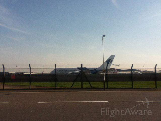 Airbus A380-800 — - taken northern perimeter road W near the renaissance hotel