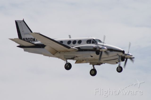 Beechcraft King Air 90 (N900MT) - Landing at John Wayne Airport, July 11 2018.