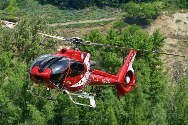 Eurocopter EC-130 (HB-ZAZ) - 50 Years Air Zermatt - Eurocopter EC-130 T2 over Raron (Switzerland) 05-19-2018