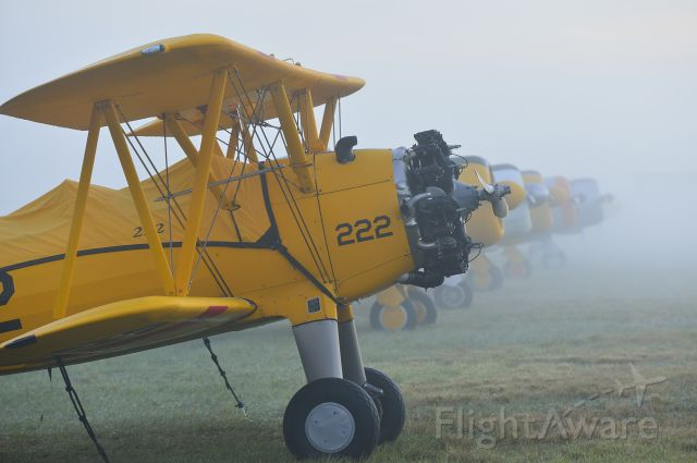 EAA Biplane — - Foggy Line at Sun n Fun 2014, Lakeland Linder Airport, Florida