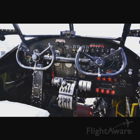 "Avro 683 Lancaster (C-GVRA) - The cockpit of an ""Royal Air Force Lancaster Bomber""."