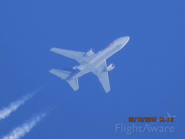 McDonnell Douglas DC-10 (N381FE) - FedEx flight 582 from MEM to PDX over Southeastern Kansas at 34,000 feet.