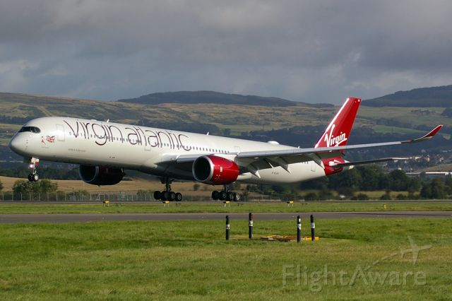 Airbus A350-1000 (G-VLUX) - 1st A350 for Virgin Atlantic, based at Glasgow for a week for pilot training.