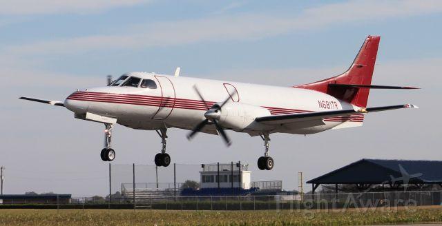 Fairchild Dornier SA-227DC Metro (N681TR) - A Pak West Fairchild SA-227 AC landing Runway 36, Pryor Regional Airport, Decatur, AL - October 24, 2018.