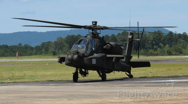 Boeing Longbow Apache (ARMY43019) - A Boeing AH-64E Apache taxiing onto the ramp at Northeast Alabama Regional Airport, Gadsden, AL - August 13, 2019
