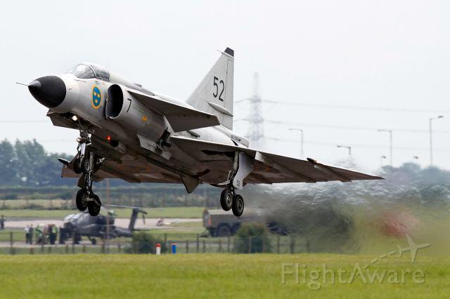 SE-DXN — - Viggen going-up for display at the RAF Waddington International Air Show.