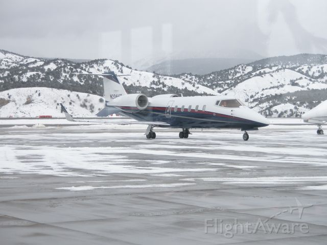 Learjet 60 (N206HY) - Parking at Vail Valley Jet Center