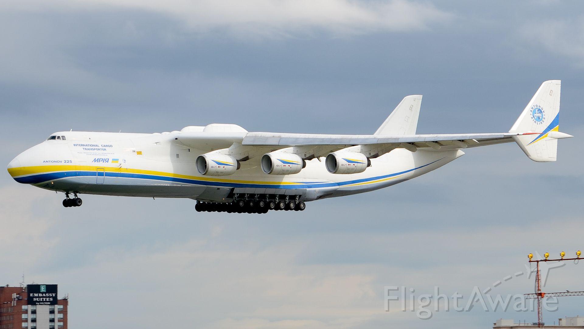 Antonov An-225 Mriya (UR-82060) - Second first of the Antonov 225 into Toronto